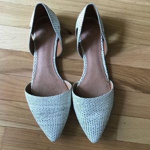 Madewell pointy flats